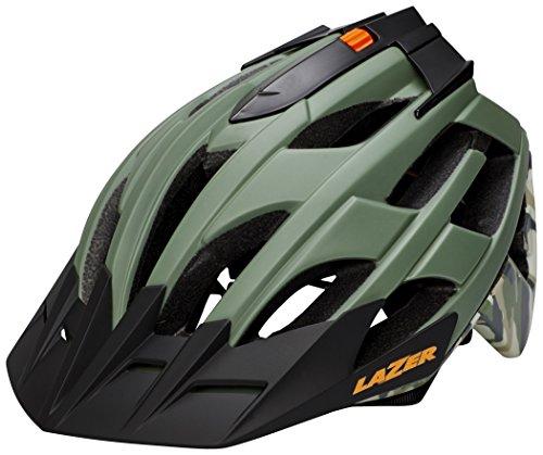 Lazer Oasiz Bicicleta Casco, Todo el año, Unisex, Color Green Camo, tamaño Medium