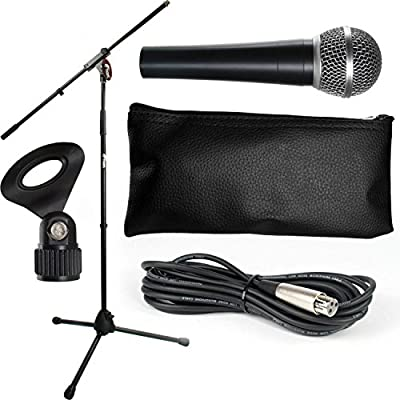 Tiger Music Microphone and Stand Set with Cable Package