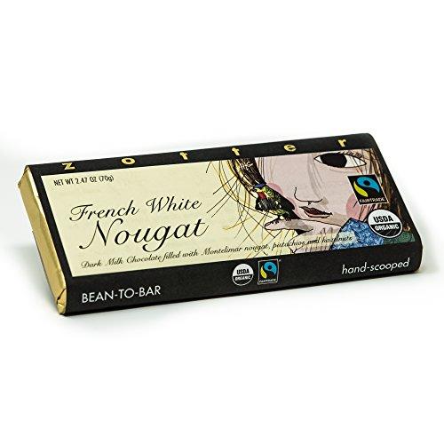 Zotter Milchschokolade mit französischem Nougat, handgeschöpft (70 g) - Bio