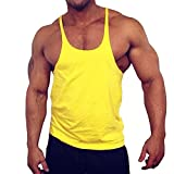 Muscle Alive Blank Bodybuilding Stringer Tank Tops Men Cotton Size M Black