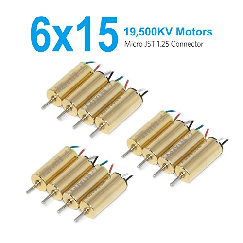 BETAFPV 3 Sets 6X15mm Motor 19500KV Brushed Motor Speed Insane for Micro FPV Tiny Whoop Eachine012 or Beta65 etc