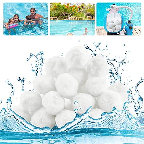Mture Filterballs für Sandfilteranlagen, Pool filterballs 700g Kann ersetzen 25 kg Filtersand, Filterbälle für Poolpumpe, Schwimmbad pumpen, Filterpumpe, Aquarium Sandfilter