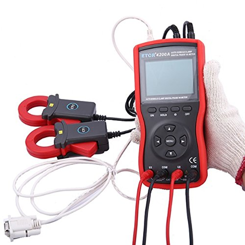 Read About Digital Clamp Meter Intelligent Double Clamp Digital Phase Volt-Ampere Meter ETCR4200A