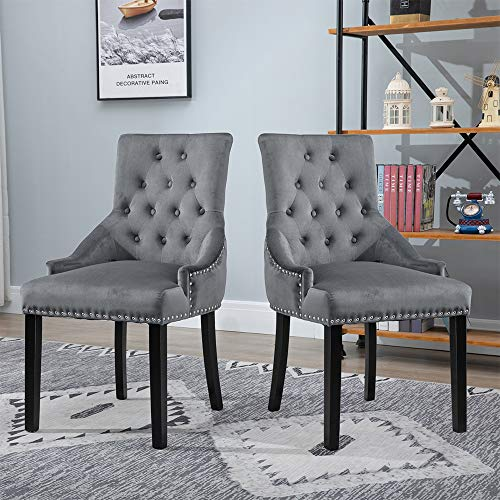 Grey Inmozata Accent Chair In Grey Upholstered Velvet Tub Chair Armchair Wing Back Occasional Lounge Chair With Oak Solid Wooded Legs For Bedroom Living Room Dining Room Chair By Warmiehomy Chairs Tub