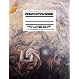 Composition Book Wide Ruled: NASA JPL Juno Abstract Jupiter Atmosphere Space Astronomy Notebook Journal Logbook