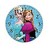 Fashion PVC Wall Clock アナと雪の女王 スタイリッシュなPVC壁時計サイレント非カチカチキッチン/リビングルーム/ベッドルーム/オフィス/子供部屋のモダンなスタイリッシュなクォーツ時計