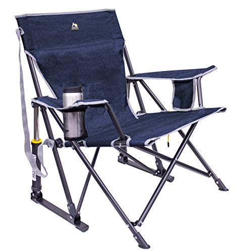 GCI KickBack Rocker Chair, Heathered Indigo