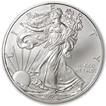 2008-1 Ounce American Silver Eagle Low Flat Rate Shipping .999 Fine Silver Dollar Uncirculated US Mint