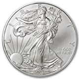 American Silver Eagle $1 Legal US Tender .999 Fine Silver Comes in soft plastic protective flip case Dated 2008