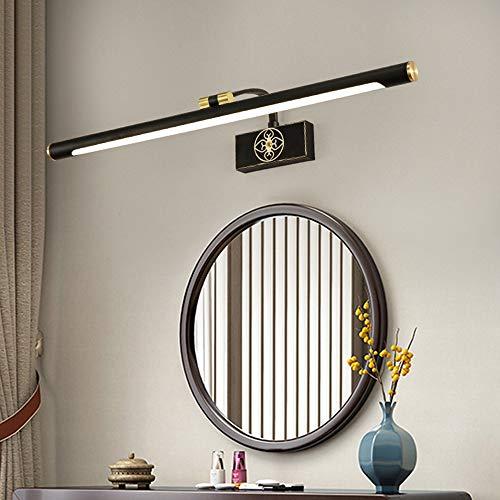 HIL - De koplamp met led-spiegels van koper, nieuw Chinees licht voor spiegels, voor slaapkamer, toilet, badkamerspiegel