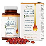 Turmeric Curcumin NovaSOL Softgels More Potent Than Bioperine - Inflammation, Joint Pain Relief Support Supplement - 185x Bioavailable Than Turmeric Black Pepper Capsules – Best Natural Extract Pills