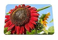 26cmx21cm マウスパッド (ひまわりの花びら植物) パターンカスタムの マウスパッド