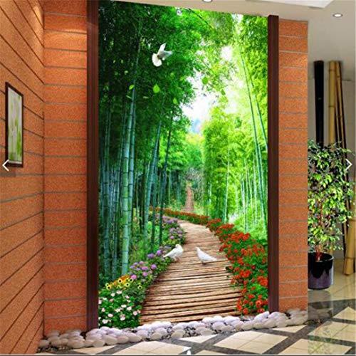 3D-vliesbehang, groot, personaliseerbaar, voor slaapkamer, woonkamer, keuken, tafelloper, groen