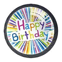 引き出しハンドルは丸いクリスタルガラスを引っ張る キャビネットノブキッチンキャビネットハンドル,誕生日おめでとう