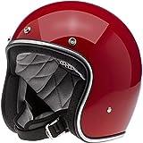 Casco Jet Biltwell Bonanza rojo brillante Cafè Racer vintage para moto Custom 2XL rojo brillante