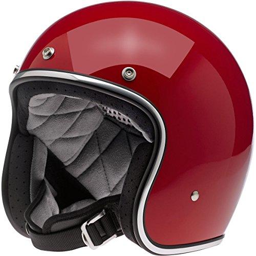 Casco Jet Biltwell Bonanza Helmet Rosso Lucido Gloss Blood Red Cafè Racer Vintage Custom Biker Moto Taglia XS
