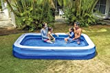 JILONG JL010291-2NPF Inflable Rectangular 1240L Azul, Color Blanco - Piscina (Inflable,...