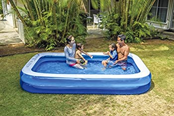 Giant Inflatable Kiddie Pool - Family and Kids Inflatable Rectangular Pool - 10 Feet Long  120  X 72  X 20