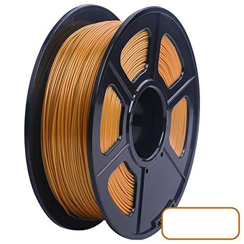 3D Printer PLA Filament 1.75mm Filament Dimensional Accuracy +/-0.02mm 2.2LBS 3D Printing Material for RepRap(golden)