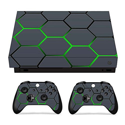 Sopear Hautpackung für Xbox, Durable Smooth Wrap Cover Sticker Skins Protective for Xbox One X Console and Controller A