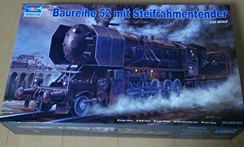 Trumpeter 00210 Modellbausatz Kriegslokomotive Baureihe 52 (BR-52) mit Steifrahmentender