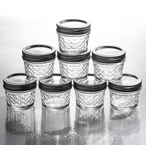 Mason Jelly Jars-4 oz. each - 8 Pcs