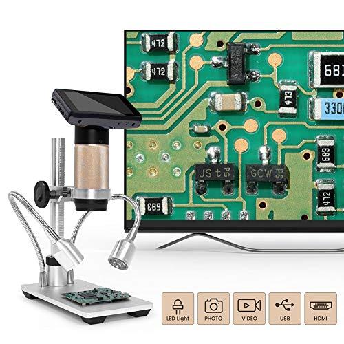 YELLAYBY Andonstar ADSM201 HDMI Microscopio digital 1080P Herramienta de soldadura de soldadura Distancia de objetos largos para PCB Comprobar Teléfono Reparación Joyería Evaluación Observación Natura