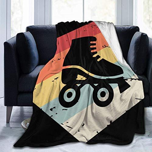 Hdadwy Fuzzy Throw Retro 70er Jahre Rollschuh Decke Fit Sofa Grippeffy Fleecedecke Gemütlich für Camping