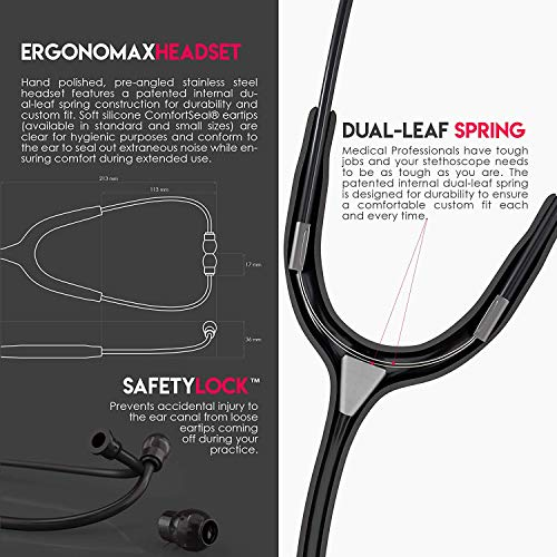 MDF Instruments MD One Stainless Steel Premium Dual Head Stethoscope - Free-Parts-for-Life &...