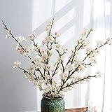 yueyue947 / Artificial Cherry Blossom Flowers, 4pcs Ramas de durazno Seda Arreglos de Flores Falsas Altas para la decoración de la Boda en el hogar, 41 Pulgadas de Color Rosa Claro