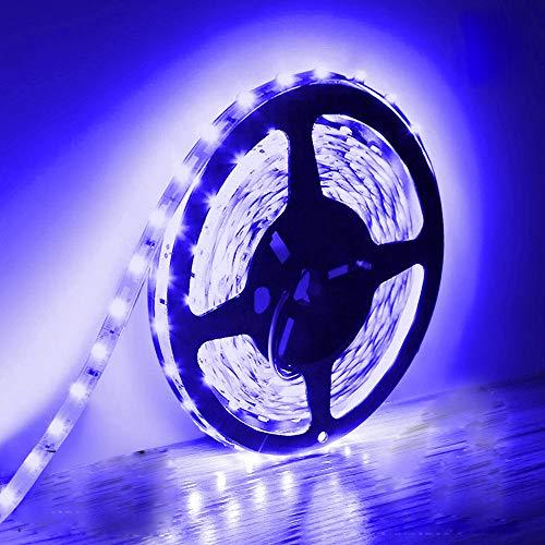 5M Tiras de luz LED, IP20 no impermeables de 12 V, cinta adhesiva azul para iluminación para el armario de cocina del hogar