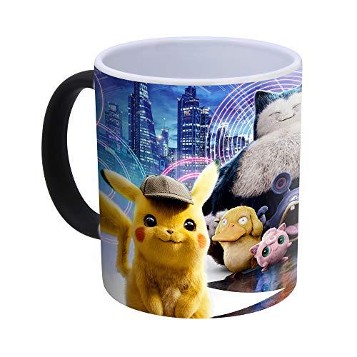 Pokémon Détective Pikachu Tasse à café magique réactive à la chaleur, Céramique, Mug uniquement.