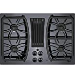 GE Profile Series 30'' Built-in Gas Downdraft Cooktop Black Glass Top PGP9830DJBB