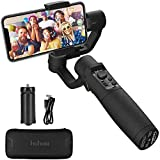 hohem 3-Axis Gimbal Stabilizer for Smartphones Phone Gimbal, Various Professional Shooting Functions for Vlog Youtuber, Face Tracking, iPhone Stabilizer, Gimble for iPhone and Android - Black