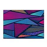 Alfombras De Tamaño Grande, Moderno Abstracto Geométrico De Espesor Suave Antideslizante Acogedoras Alfombras Púrpura, Azul Y Rojo Imprimir Arte Decoracion De Salón Dormitorio Cabecera Entrada,80