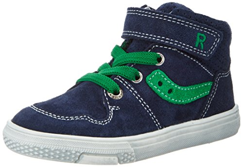Richter Kinderschuhe Jungen Mose High-Top, Blau (Atlantic/Grass), 31 EU