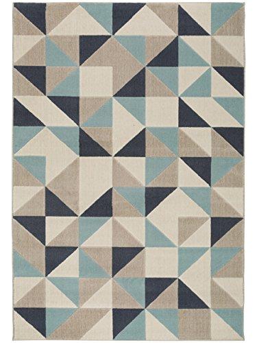 Benuta Teppich Dessert Blau 120x170 cm   Moderner Teppich für Wohn- und Schlafzimmer