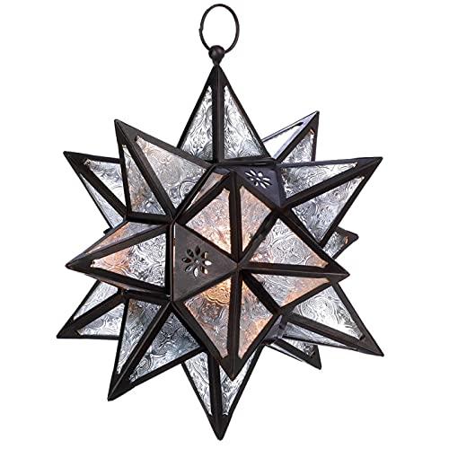 Hanging Multi-Point Star Candle Lantern