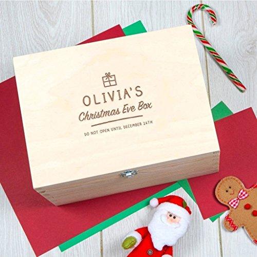 Personalisierte Weihnachtsbox für Kinder und Enkelkinder - Individuelle Weihnachtsgeschenke zum Heiligabend Christkind - Geschenk mit Gravur Nikolaustag Vorweihnachtszeit