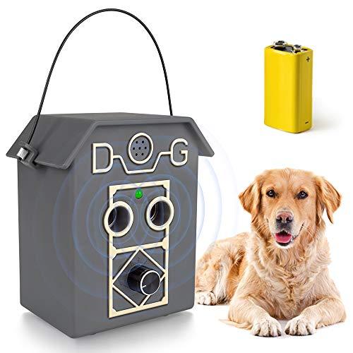 Wango Antibell für Hunde, Hund Ultraschall Anti Bellgerät Wiederaufladbarer Bellenstopper Hundebellen Abschreckmittel, Sicheres und Menschliches für Kleine bis Große Hunde Innen Außenbereich Haustier