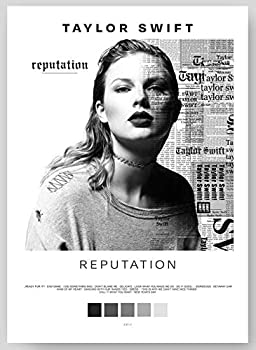 Taylor Swift - Reputation Album Cover Poster Print With Track List and Color Tiles - 11  x 17  inches Ready to Frame - Wall Art