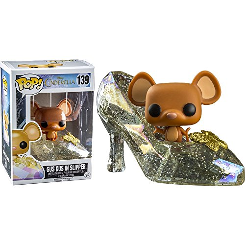 Funko Pop Disney Cinderella Glass Slipper Gus Gus Mouse Hot Topic Exclusive