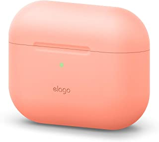 elago Original Case Compatible with Apple AirPods Pro - Protective Silicone Cover, Front LED Visible, Scratch-Resistant [Fit Tested] (Peach)