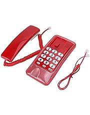 [學校季節 特別促銷] 帶桌面繩的電話、壁掛固定電話內線編號(紅色)
