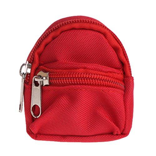 William-Lee Puppen-Rucksack, Schultertasche, Zubehör, Mini-Spielzeug, Handtasche, Schultasche, niedliches Kindergeschenk, 6 Farben, Textil, rot, Height: 9cm(3.54in) Width: 7cm(2.76in)