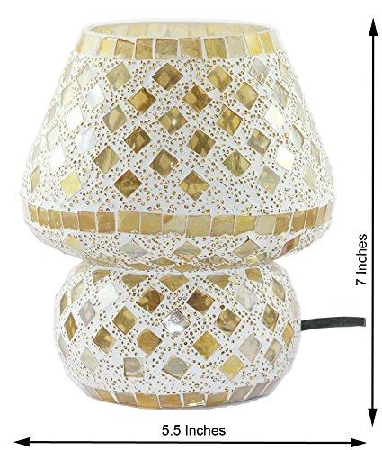 Edivine de diffuseur/Bougeoir/fabriqué à la main Festive Home Decor mosaïque en verre Bougie support avec base ronde votive Photophore, motif (# 76)