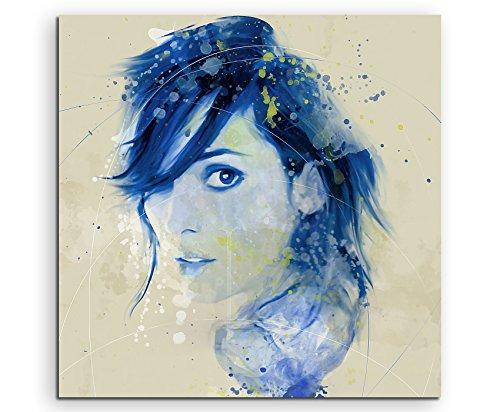 Winona Ryder I Aqua 60x60cm - Splash Art Paul Sinus Wandbild auf Leinwand - Malerei, Kunstbild, Aquarell, Fineartprint