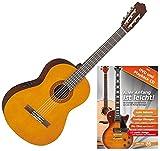 Yamaha CX40 Konzertgitarre (mit Tonabnehmer, Decke aus Fichte, Boden und Zargen aus Meranti, Hals aus Nato, inklusive Gitarrenschule'Aller...