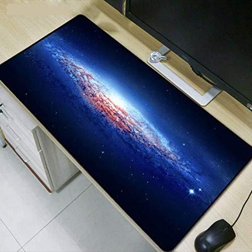 Zilveren zwart nachthemel mist druk grote muismat kantoor computer rubber spel groot toetsenbord pad 400 x 900 x 3 mm