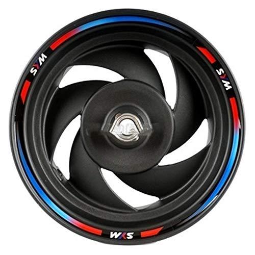 ZQTG Llantas para Ruedas de Coche, 1 Juego de calcomanías Decorativas para Rueda de neumático de Motocicleta de Vinilo con diseño de Coche para Sym FNX150 (para 2 Ruedas / 4 Lados) Pegatinas de llant